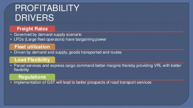 key business drivers in logistics
