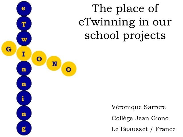 The place ofeTwinning in our school projects     Véronique Sarrere     Collège Jean Giono     Le Beausset / France