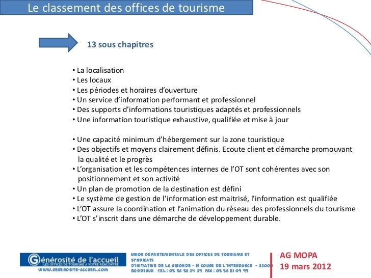 Classement des offices de tourisme et qualit tourisme - Office de tourisme bordeaux horaires ...