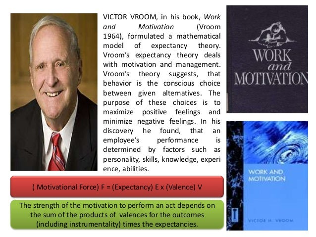 work and motivation victor vroom work and motivation 1964 Work and motivation has 15 ratings and 0 reviews why do people choose the careers they do  by victor h vroom  this landmark work, originally published in 1964, integrates the work of hundreds of researchers in individual workplace behavior to explain choice of work, more get a copy kindle store amazon.