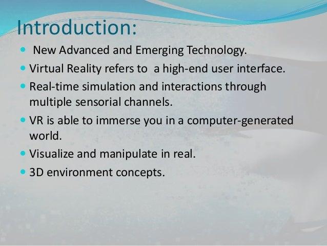 Virtual Reality Presentation Slide 2