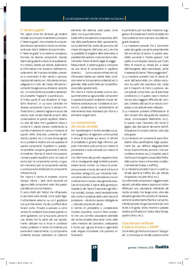 """Il """"sistema guida"""" deredovesinascondonoirischiecomeinter e spostamento spostamento Le caratteristiche del rischio stradale..."""
