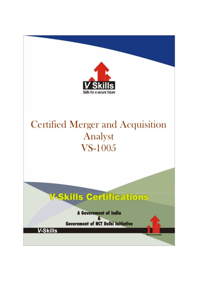Certified Merger and AcquisitionAnalystVS-1005