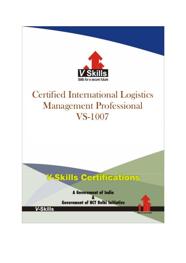 Certified International Logistics  Management Professional            VS-1007