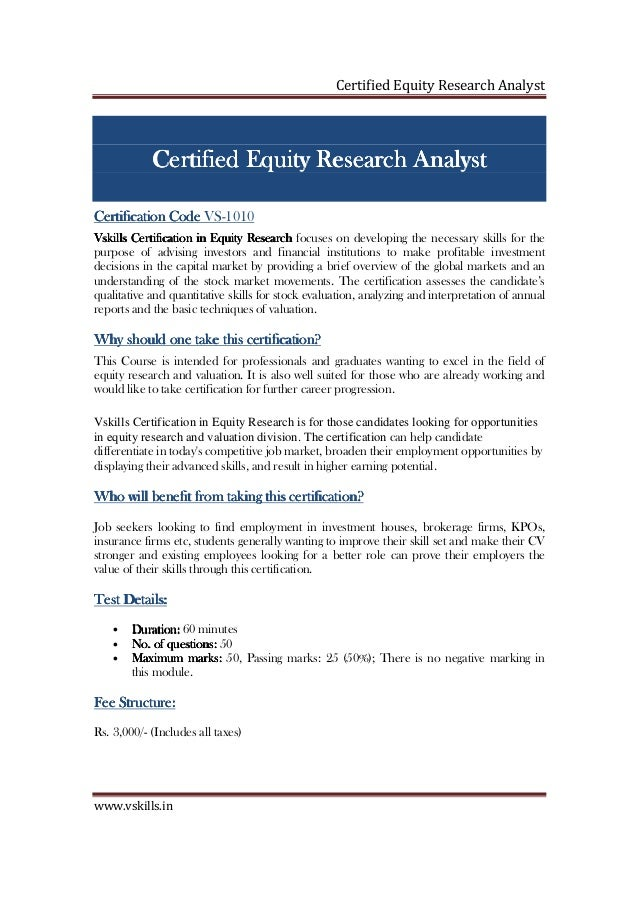 equity research analyst