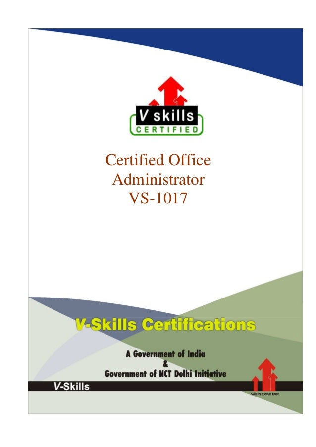 Certified Office Administrator VS-1017