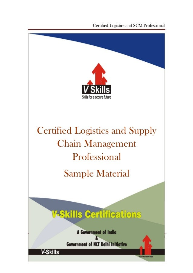 Vskills certified logistics and supply chain management ...