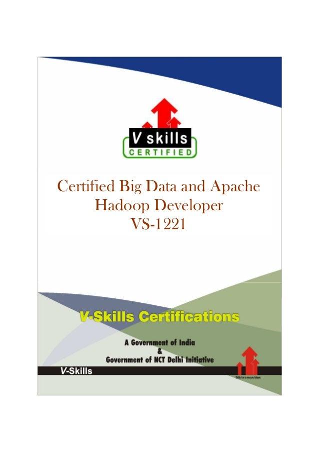 Certified Big Data and Apache Hadoop Developer VS-1221