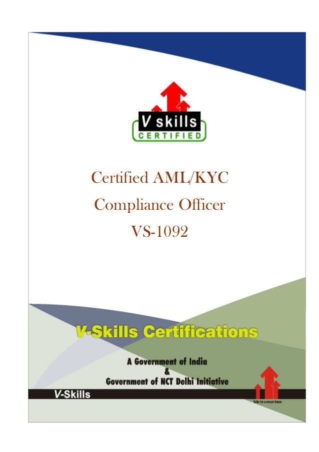 Certified AML/KYC Compliance Officer VS-1092