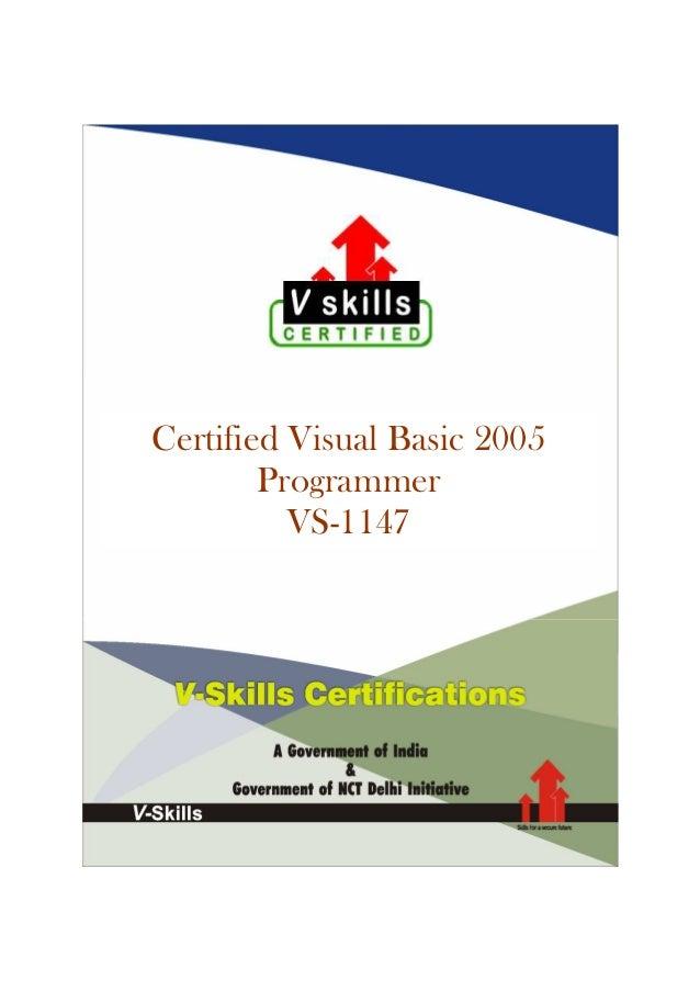 Certified Visual Basic 2005 Programmer VS-1147