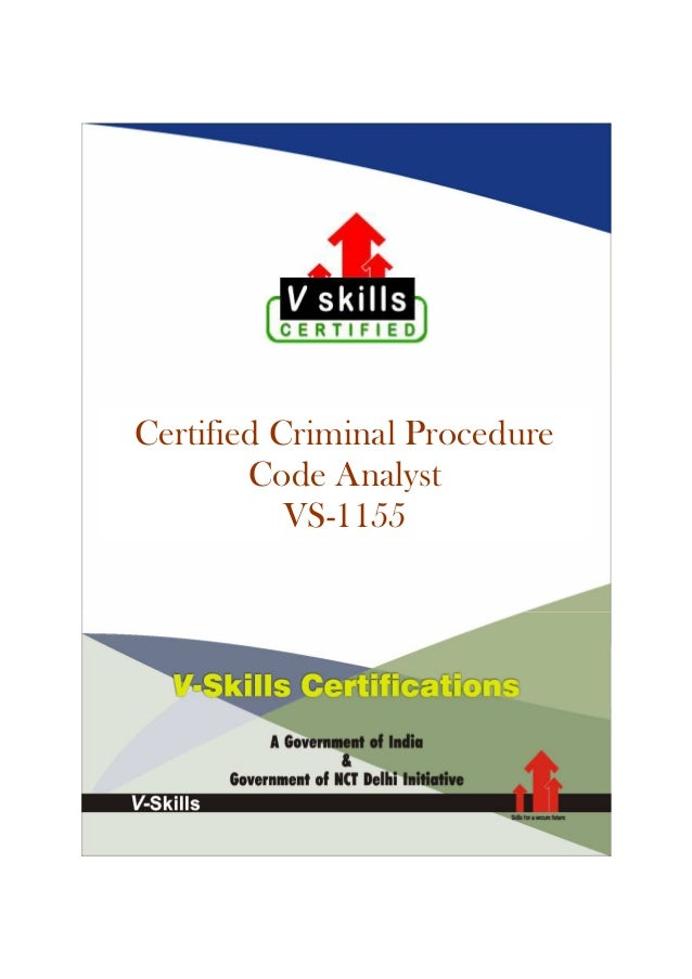Certified Criminal Procedure Code Analyst VS-1155