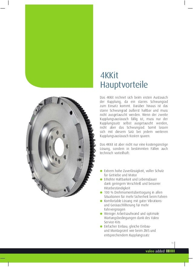 Kupplungssatz VALEO 4KKit 835040 3-Komponenten-Kit + starre Schwungrad