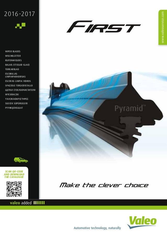 How To Change Wiper Blades >> European Valeo First Wiper blade catalogue 2016-2017 953268
