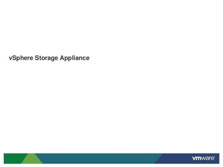 vSphere Storage Appliance