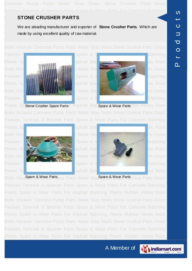 Concrete   Pump     Parts   Water   Stop   Seals   Stone   Crusher    Parts GroutPackers Tamrock & Boomer Parts Spare & We...