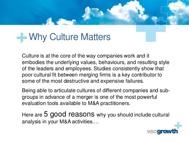 Culture in M&A - 5 reasons why it matters Slide 3