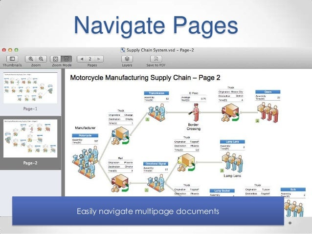 navigate pages easily navigate multipage documents - Visio Open