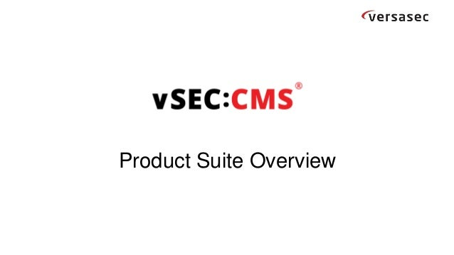 Product Suite Overview