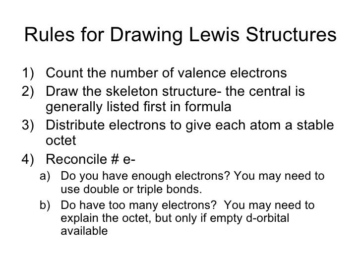 Vsepr 12 rules for drawing lewis structures ccuart Gallery