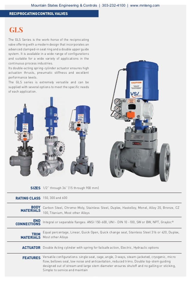 The GLS Series is the work-horse of the reciprocating valve offering with a modern design that incorporates an advanced cl...