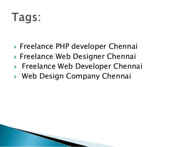 Freelance Web Designer Jobs In Chennai