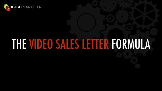 THE VIDEO SALES LETTER FORMULA