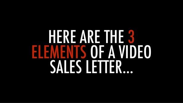 Video Sales Letter Formula