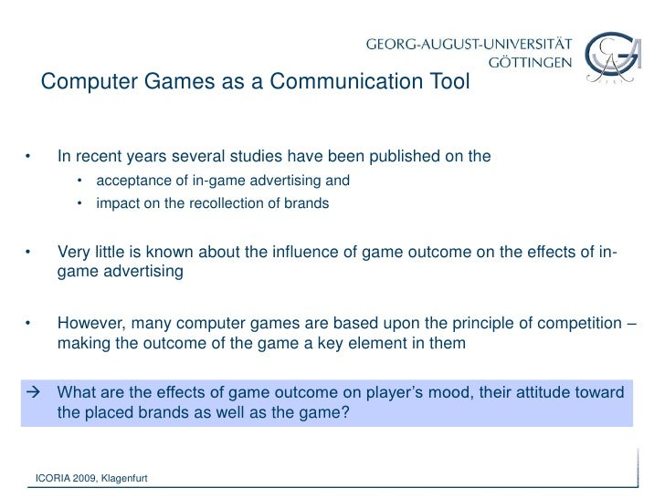 Growth of importance of computer games