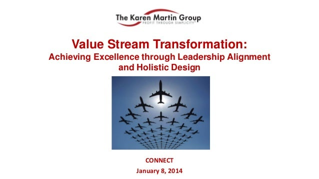 Value Stream Transformation: Achieving Excellence through Leadership Alignment and Holistic Design  CONNECT January 8, 201...