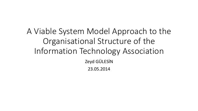 A Viable System Model Approach to the  Organisational Structure of the  Information Technology Association  Zeyd GÜLESİN  ...