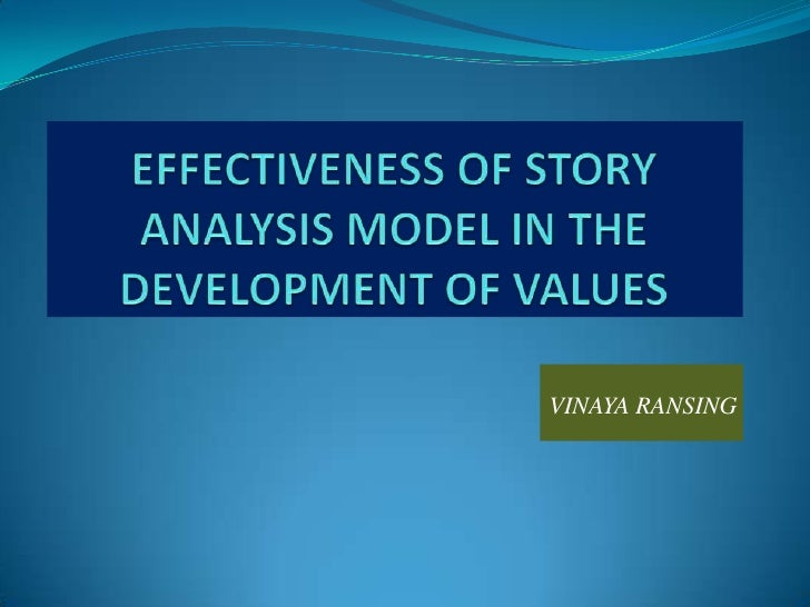 EFFECTIVENESS OF STORY ANALYSIS MODEL IN THE DEVELOPMENT OF VALUES<br />VINAYA RANSING<br />