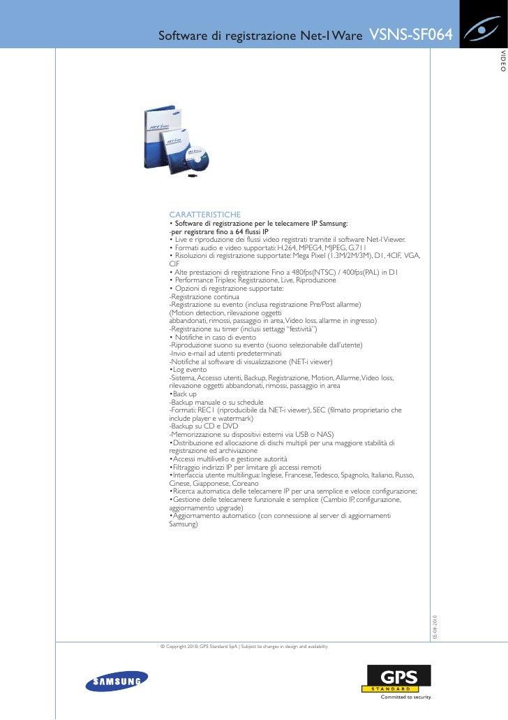 Software di registrazione Net-I Ware                                                 VSNS-SF064                           ...