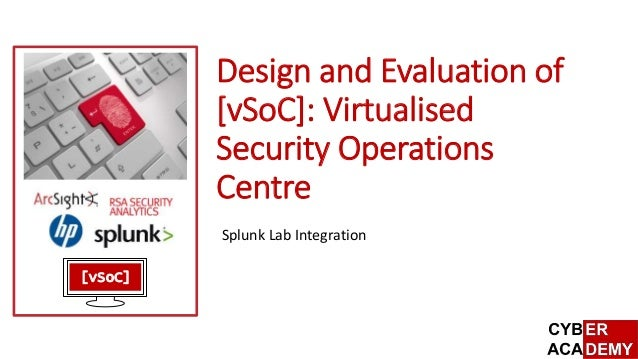 Design And Evaluation Of Vsoc Virtualised Security