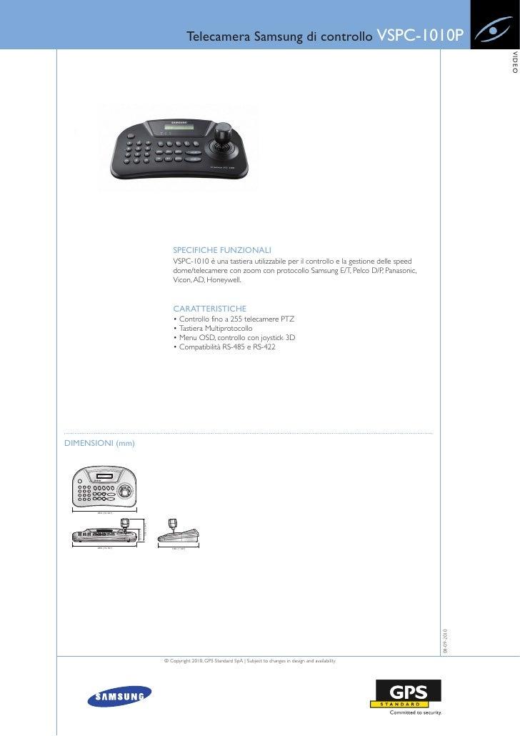 Telecamera Samsung di controllo VSPC-1010P                                                                                ...