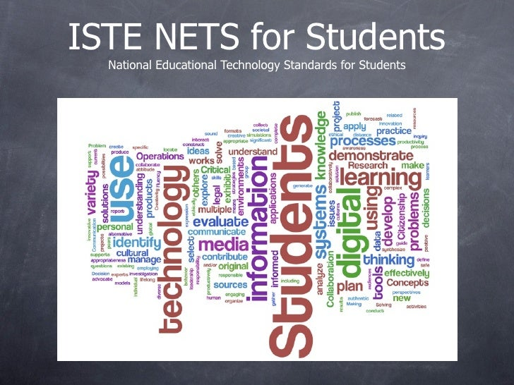 ISTE NETS for Students   National Educational Technology Standards for Students