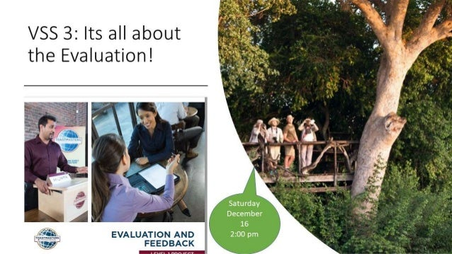 ITS ALL ABOUT EVALUATION VSS 3: DECEMBER 17