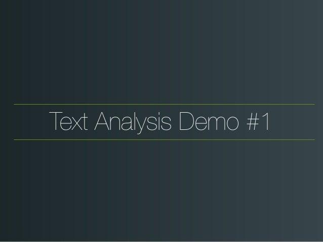 Text Analysis Demo #1