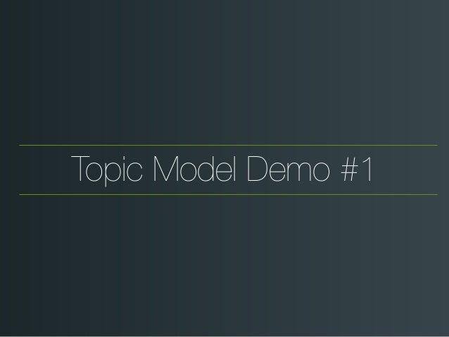 Topic Model Demo #1