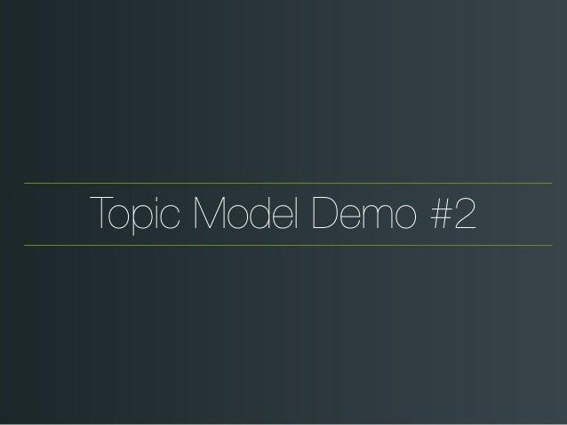 Topic Model Demo #2