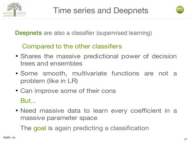 BigML, Inc. 17 Compared to the other classifiers ● Shares the massive predictional power of decision trees and ensembles ●...