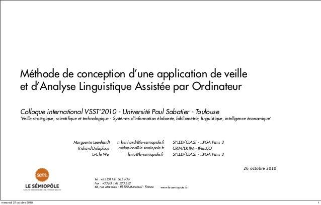 mleenhardt@le-semiopole.fr rdelaplace@le-semiopole.fr www.le-semiopole.fr Tel : +33 (0) 141 585 636 Fax : +33 (0) 148 593 ...