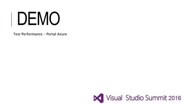 DEMO Test Performance – Portal Azure