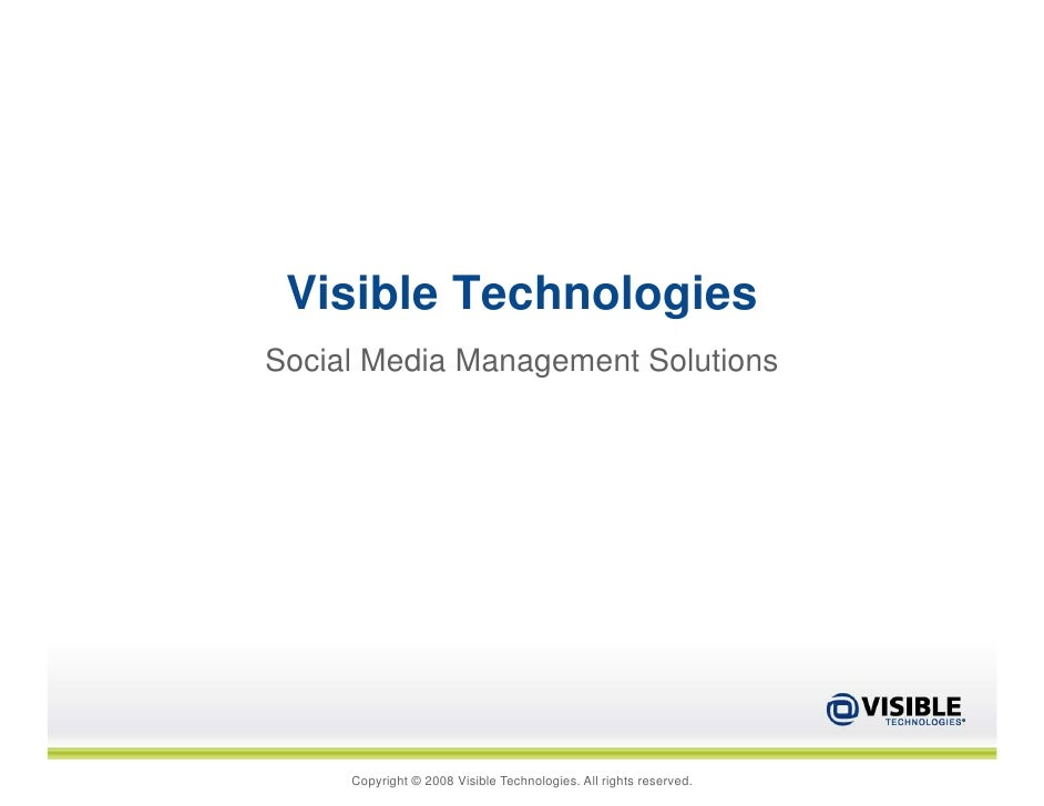 Visible Technologies Social Media Management Solutions