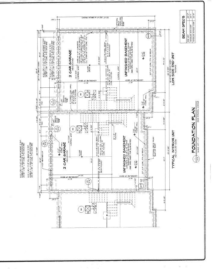 3 unit townhome plan Slide 3