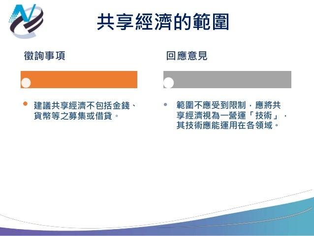 共享經濟重要議題之探討 vtaiwan意見彙整 Slide 3