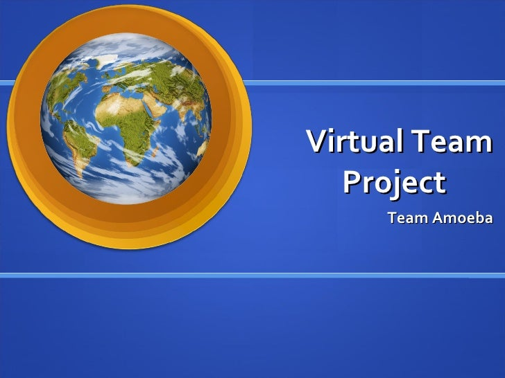 Virtual Team Project Team Amoeba