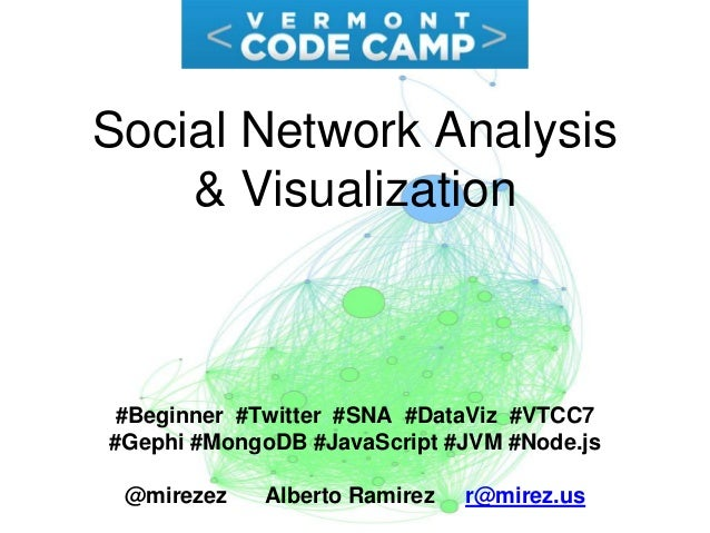 Social Network Analysis & Visualization #Beginner #Twitter #SNA #DataViz #VTCC7 #Gephi #MongoDB #JavaScript #JVM #Node.js ...