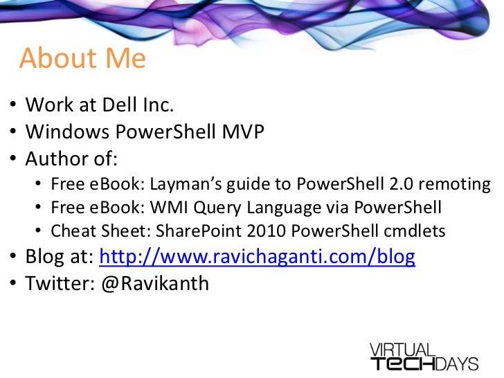 PowerShell for monitoring and managing Windows 7 desktops remotely Slide 2