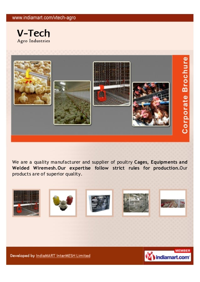 We are a quality manufacturer and supplier of poultry Cages, Equipments andWelded Wiremesh.Our expertise follow strict rul...