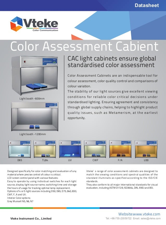 Color Assessment Cabient CAC Light Cabinets Ensure Global Standardised  Color Assessment Color Assessment Cabinets Are An ...